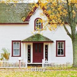 10XThanksgiving Porch Decorations Autumn Harvest Front Door Hanging Curtain