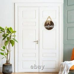 10XWelcome Sign Rustic Front Door Decor Round Wood Hanging Sign Farmhouse Porch
