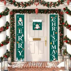 20XChristmas Porch Banner Front Door Porch Sign Banner Christmas Hanging