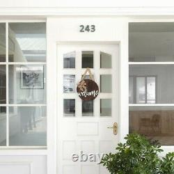20XWelcome Sign Rustic Front Door Decor Round Wood Hanging Sign Farmhouse Porch