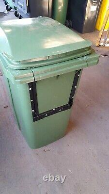 360 Litre Green wheelie bin Drop Front High Quality Council Standard