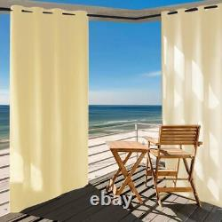 8Pack W50xL84 Inch Waterproof Outdoor/Indoor Curtain Panel for Patio Front Porch