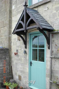 ASHCOMBE Timber Door Canopies- Wooden front door porch canopy gallows bracket