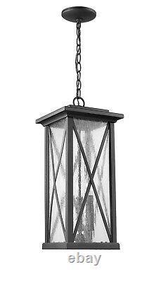 Aluminum Black Hanging Light Outdoor Modern Porch 22 H x 9 W Front Door New