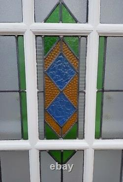 Amazing Colourful 1930s Art Deco Stained Glass Vintage Front Porch Side Windows