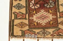 Anatolian Turkish, 1.7 x 3.3 ft, 50x100 cm, Small Area Rug, Frontdoor Tribal Rug