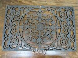 Antique Cast Iron Front or Rear Door Floor Mat Heavy Metal Garden Outdoor