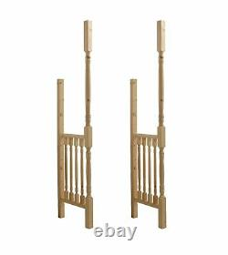 Apex Front Door Pine Porch Canopy (1960mm) + Turned Porch Side Kit
