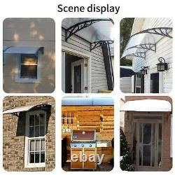 BIRCHTREE Door Canopy Front Back Awning Porch Sun Shade Shelter Patio Rain Cover