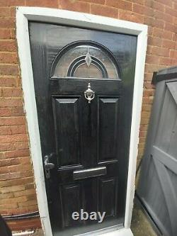 BLACK Pvc front door & frame Second Hand, Very Good Condition (inner side white)
