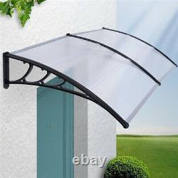 Black/White Awning Canopy Roofing for Back Front Door Porch Patio Balcony Window