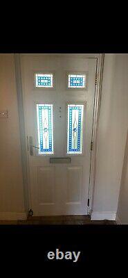 Blue composite front door