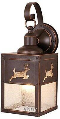 Buck Deer Outdoor Wall Light Scone Hunter Fixture Porch Front Door Cabin Rustic