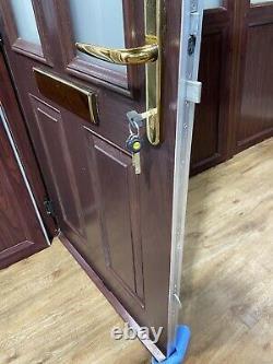 COMPOSITE ROSEWOOD FRONT DOOR-BROWN-WOODGRAIN-SIDELIGHTS-PORCH-mahogany-UPVC-PVC
