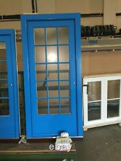 Chelsea Blue Wooden Front Door Wooden Double Glazed Entrance Door
