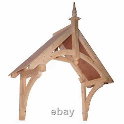 Chilcombe Timber Door Canopies- Wooden front door porch canopy gallows bracket