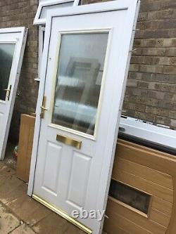 Composite Door Front White 950 2000 Garage Shed Porch Kitchen New