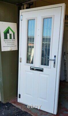 Composite door anthracite grey porch Mancave garden room pvc 945x2050 (6479)