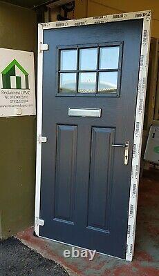 Composite door anthracite grey porch Mancave garden room pvc 990x2032 (6476)