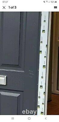 Composite double glazed door Anthracite Grey mancave entrance pvc 919x2120 6502