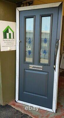 Composite double glazed door Anthracite Grey porch Mancave pvc 950x2080 (6475)