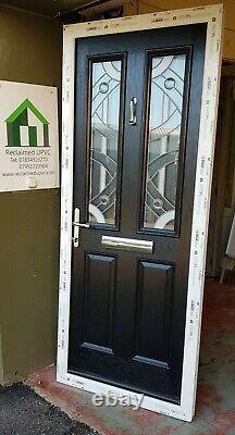 Composite double glazed door Black porch Mancave garden room pvc 865x2120 (6471)