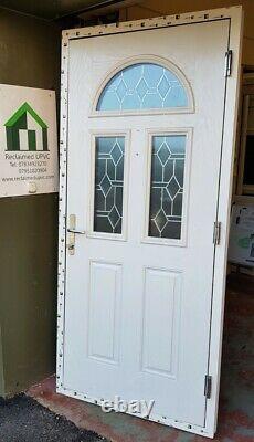 Composite double glazed door Black porch Mancave garden room pvc 973x2112 (6469)
