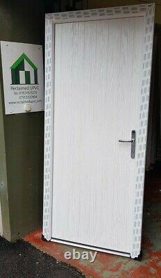 Composite double glazed door Black porch Mancave open out pvc 916x2047 (6445)