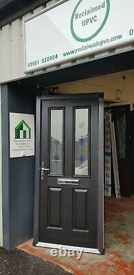 Composite double glazed door black porch upvc entrance extension 934x2060 6550