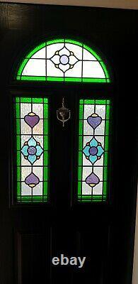 Composite double glazed door black white entrance porch upvc 1014x1996 (6435)