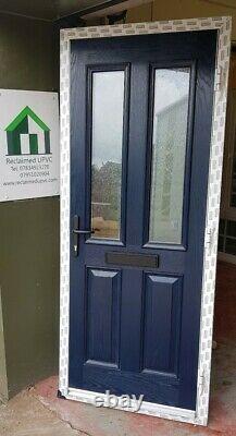 Composite double glazed door blue white entrance porch upvc 891x2116 (6190)