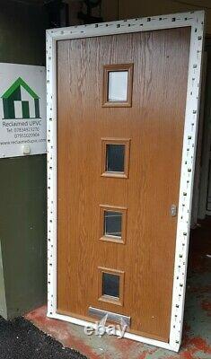 Composite double glazed door oak porch entrance mancave upvc 1005x2025 (6454)