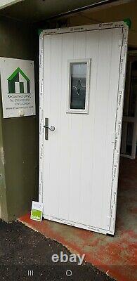 Composite double glazed door oak porch upvc entrance solidor pvc 892x2078 6506