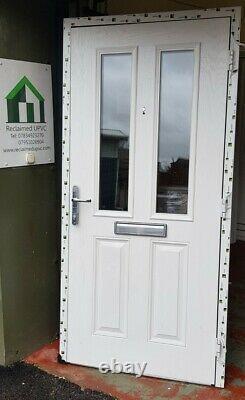 Composite double glazed door red porch entrance mancave upvc 990x2051 (6450)