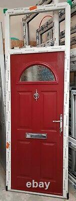Composite double glazed door red terrace toplite solidor upvc 895x2557 (6440)