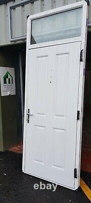 Composite double glazed door white terrace toplite entrance pvc 989x2564 6457