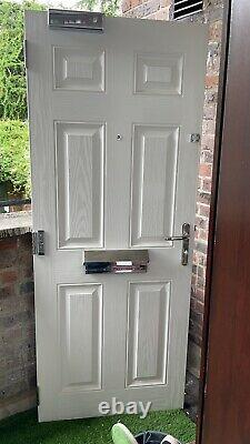 Composite front door and frame used