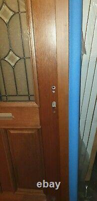 Corola Pre Finished External Door Set 36 1/2 X 82 Chrome 5 Point Lock