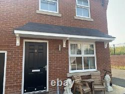 DOOR CANOPY GRP FIBREGLASS FRONT PORCH CANOPY GREY White With Lights