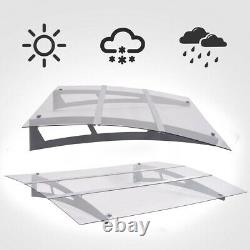 Door Canopy Awning Rain Shelter Front Back Porch Outdoor Patio Shade Roof Cover