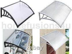 Door Canopy Awning Shelter Front Back Porch Outdoor Shade Patio Cover Black Whit