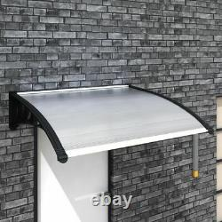 Door Canopy Awning Shelter Front Back Porch Patio Roof Rain Cover Muti Sizes