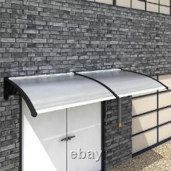 Door Canopy Awning Shelter Front Back Porch Window Shade Patio Roof White/Black