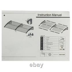 Door Canopy Awning Shelter Outdoor Front Back Porch Patio Window Roof Rain CovPB