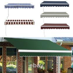 Door Canopy Window Front Porch Overhead Roof Rain Cover Manual Retractable 2m-4m
