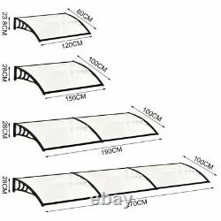 Door Window Canopy Awning Porch Front Shade Sun Shelter Outdoor Rain Cover Roof