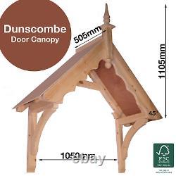 Dunscombe Timber Door Canopies- Wooden front door porch canopy gallows bracket