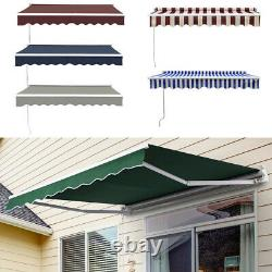 Durable Awning Door Canopy Window Front Back Porch Overhead Roof Cover