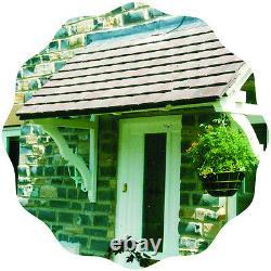 Eastacombe Timber Door Canopies-Wooden front door porch canopy gallows bracket