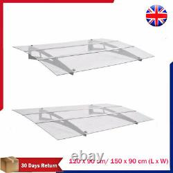 Front Back Door Canopy Porch Awning Rain Shelter Roof Outdoor Shade 120cm/150cm